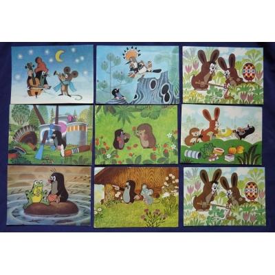 Krteček - soubor pohlednic