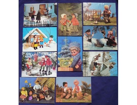 Loutky a panenky - soubor pohlednic