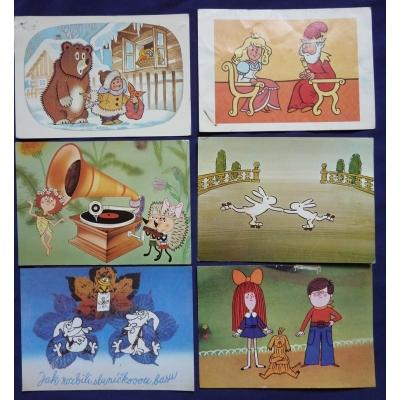 Večerníček - soubor pohlednic