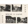 Mšené lázně 1968 - pohlednice černobílá