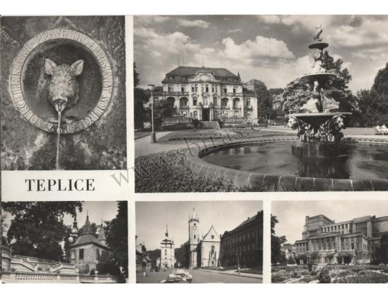 Teplice 1969 - pohlednice černobílá