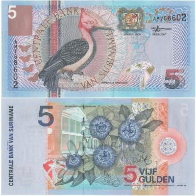 Surinam - bankovka 5 gulden 2000