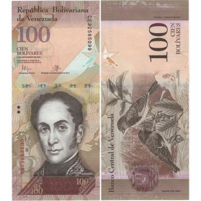 Venezuela - bankovka 100 bolivares 2015 UNC