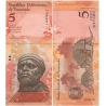 Venezuela - bankovka 5 bolivares 2008 UNC