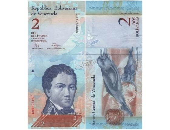 Venezuela - bankovka 2 bolivares 2012 UNC