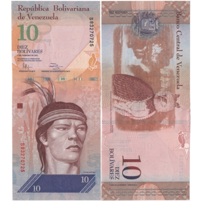 Venezuela - bankovka 10 bolivares 2011 UNC