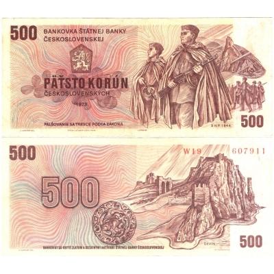 500 korun 1973, série W