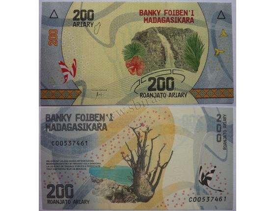 Madagaskar - bankovka 200 ARIARY 2017 UNC