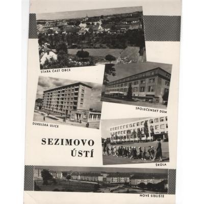 Sezimovo ústí - pohlednice černobílá