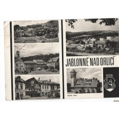 Jablonné nad Orlicí - pohlednice černobílá