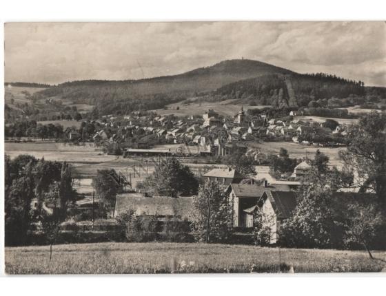 Jiřetín pod Jedlovou - pohlednice černobílá