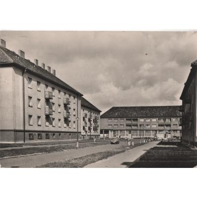 Kbely sídliště 1967 - pohlednice černobílá
