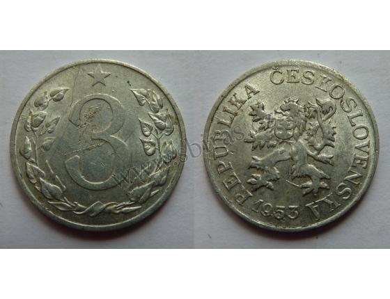3 haléře 1953