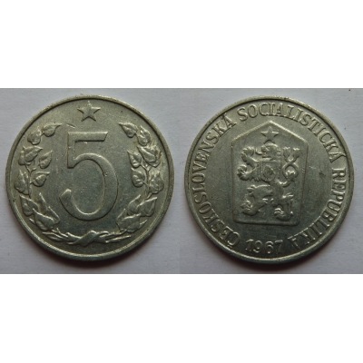 5 haléřů 1967