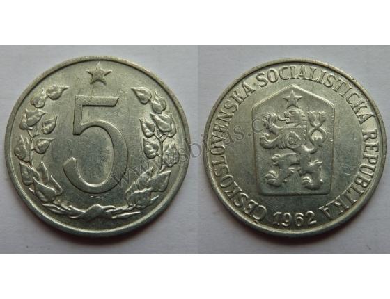 5 haléřů 1962