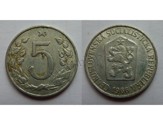 5 haléřů 1966