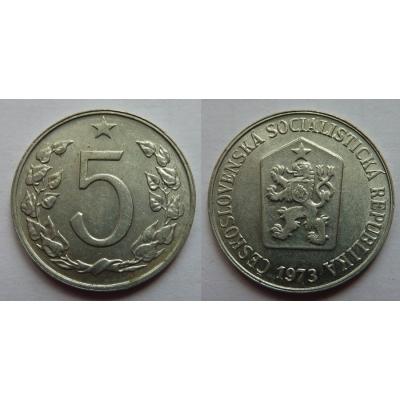 5 haléřů 1973
