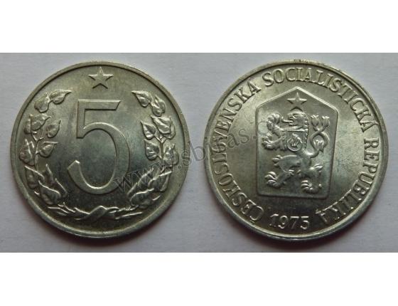5 haléřů 1975