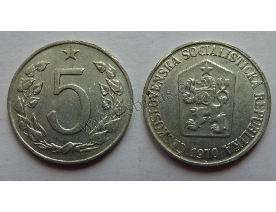 5 haléřů 1970
