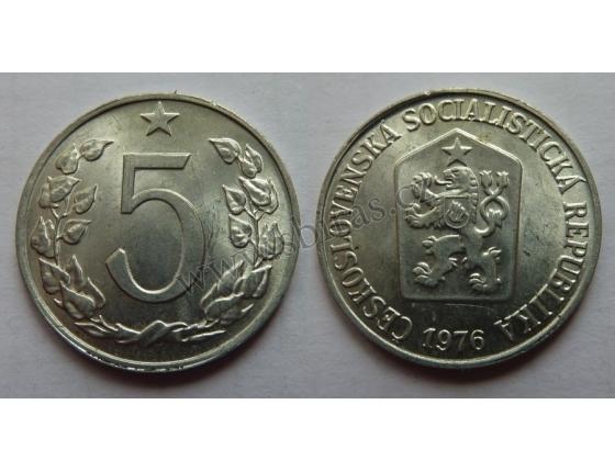5 haléřů 1976