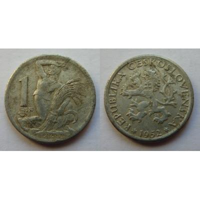 1 koruna 1952
