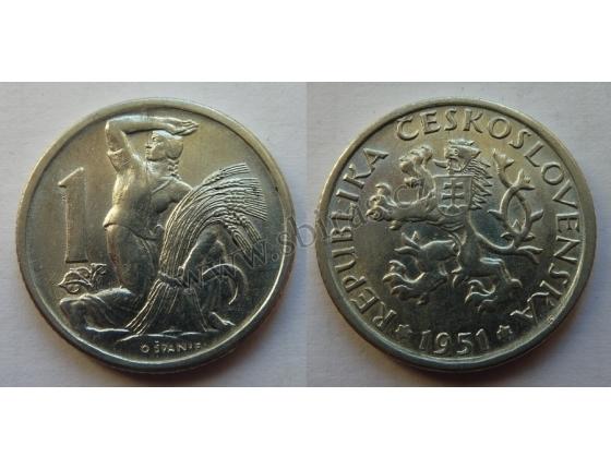 1 koruna 1951