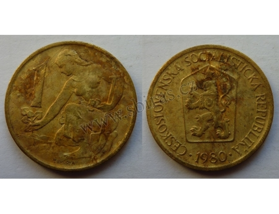 1 koruna 1980