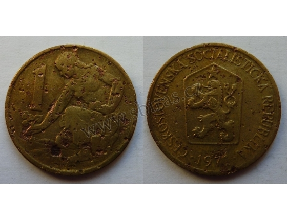 1 koruna 1971