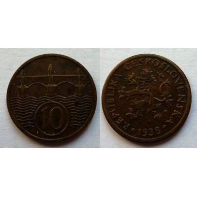 10 haléřů 1938