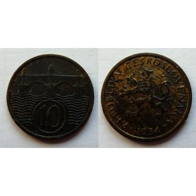 10 haléřů 1934