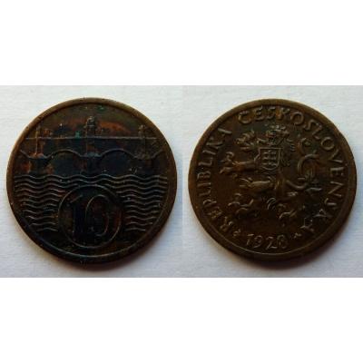 10 haléřů 1928