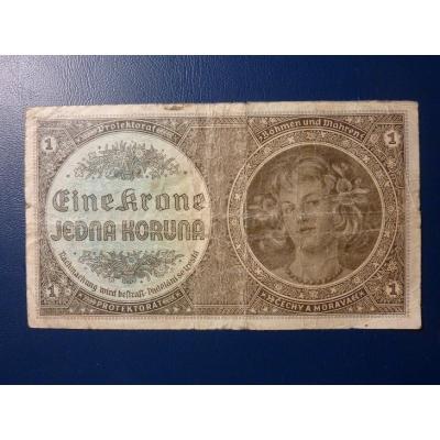 Protektorát Č. & M. - bankovka z roku 1940