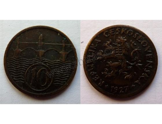10 haléřů 1927