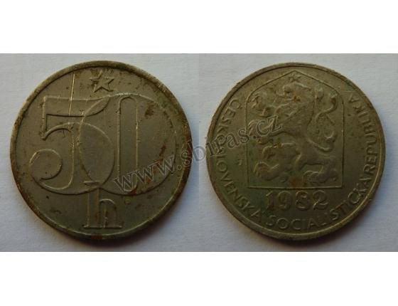 50 haléřů 1982