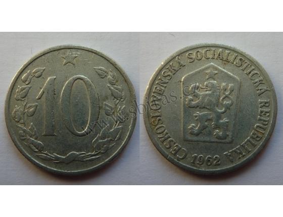 10 haléřů 1962