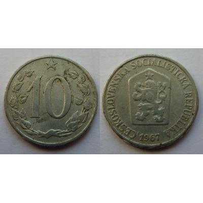 10 haléřů 1967