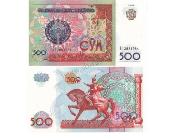 Uzbekistán - bankovka 500 Sum 1999 UNC