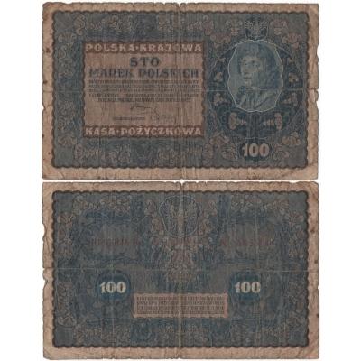 Polsko - bankovka 100 marek 1919