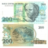 Brazílie - bankovka 200 cruzeiros 1990 UNC