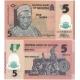Nigérie - bankovka 5 naira 2015 UNC, polymerová bankovka