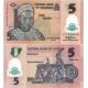 Nigérie - bankovka 5 naira 2016 UNC, polymerová bankovka