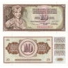 Jugoslávie - bankovka 10 dinara 1978 UNC