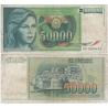 Jugoslávie - bankovka 50 000 dinara 1988
