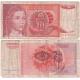 Jugoslávie - bankovka 10 dinara 1990