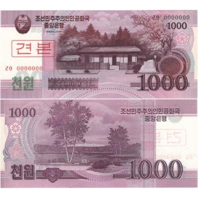 KLDR - bankovka 1000 won 2008 UNC, anulát