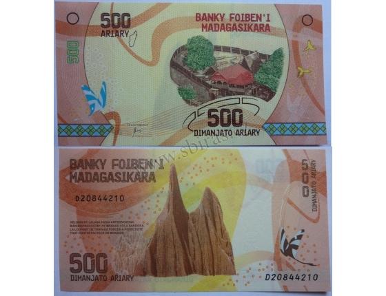 Madagaskar - bankovka 500 ariary UNC
