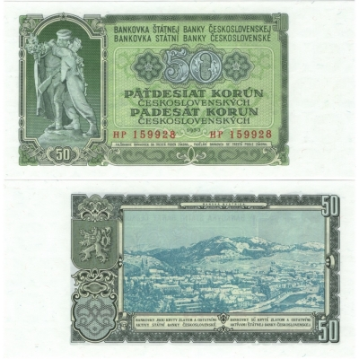 50 korun 1953 UNC, série HP