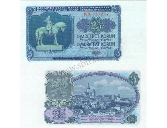 25 korun 1953 UNC