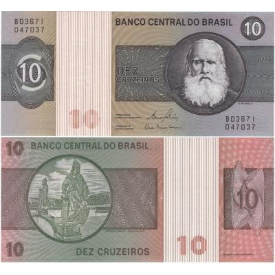 Brazílie - bankovka 10 Cruzeiros 1980 UNC