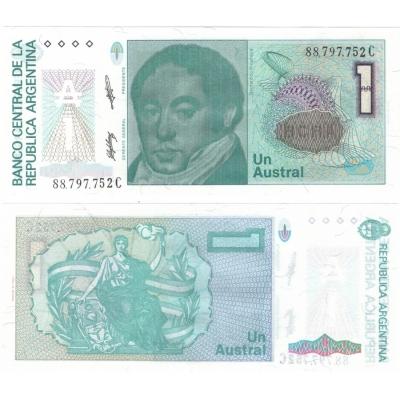 Argentina - bankovka 1 Austral 1985-1989 UNC